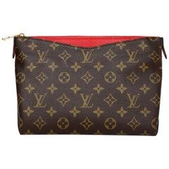 Louis Vuitton '17 Monogram Red Cerise Leather Pallas Beauty Case Clutch Bag