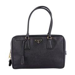 Prada Bauletto Handbag Saffiano Leather Medium