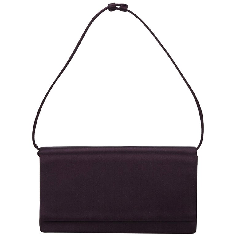 f9a3849cb7a8 Prada Purple Satin Baguette at 1stdibs