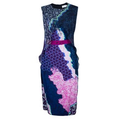 Peter Pilotto Multicolor Print Cross Column Sleeveless Dress M