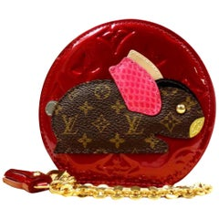 Louis Vuitton Red Porte Monnaie Animal Lapin 227900