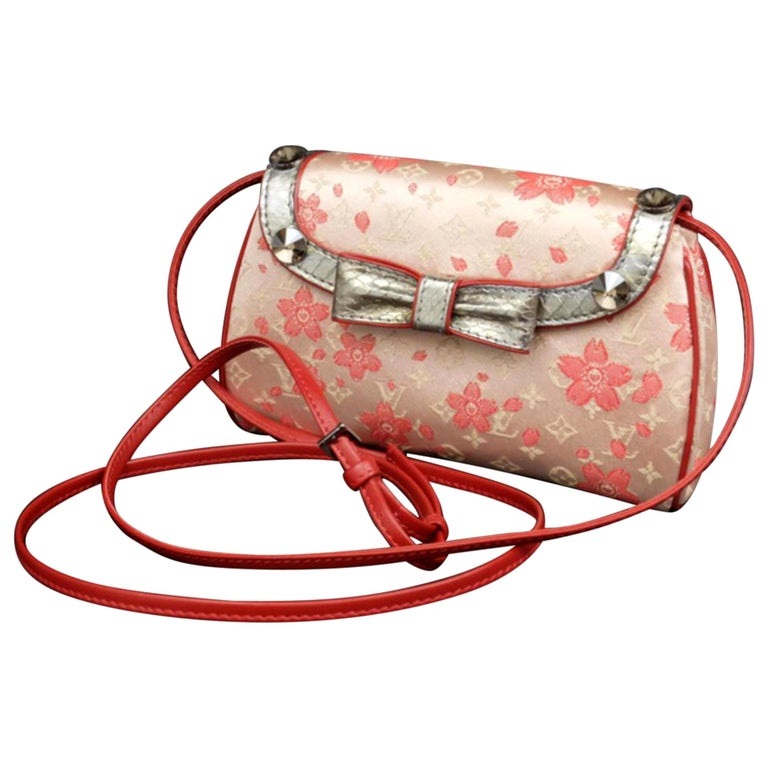 63cf33fbc475 Louis Vuitton (Ultra Rare) Monogram Cherry Blossom Griotte 227924 Cross  Body Bag For Sale. OVERALL LIKE NEW VINTAGE CONDITION ( 9.5 10 ...