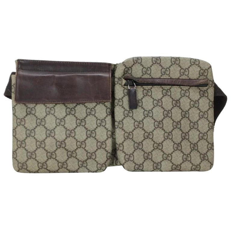 7d70c815ee6c Gucci Monogram Gg Supreme Belt Waist Pouch 228674 Coated Canvas Cross Body  Bag For Sale