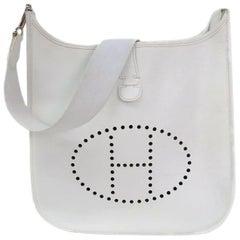c77f5ca8f0c7c3 Hermès Evelyne Pm 230229 White Leather Messenger Bag