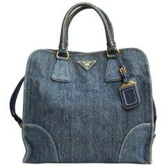 Prada Blu Denim Bag