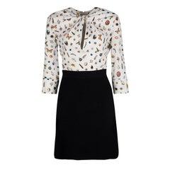 Alexander McQueen Colorblock Obession Print Twist Front Dress S
