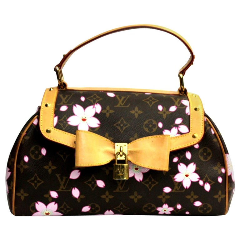dfeebc1e2161 Louis Vuitton X Takashi Murakami Cherry Blossom Bag At 1stdibs. Authentic Louis  Vuitton Monogram Cherry Blossom Papillon Shoulder Bag Hand Monogramcanvas  ...