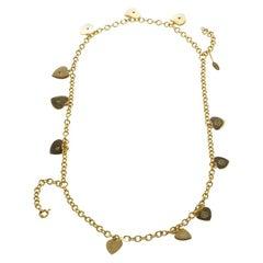 Roberto Cavalli Heart Multichain Gold Tone Necklace