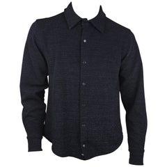 Todd Oldham Black Lurex Men's Button Up, c. 90's, Size M