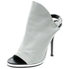 07e49202c5a Balenciaga Grey Leather Glove Peep Toe Sandals Size 37. Balenciaga Green  Leather Giant Gladiator Sandals Size 39