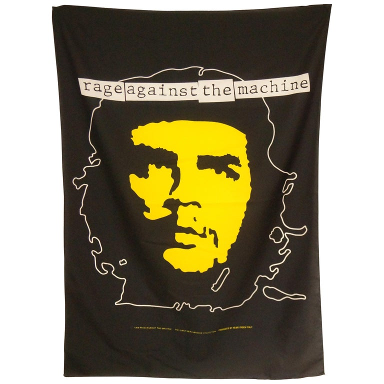 1994 Rage Against The Machine Che Guevara Wall Flag Scarf For Sale