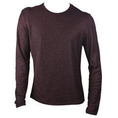 Jean Paul Gauliter Classique Burgundy Lurex Long Sleeve Shirt, Size 54 IT