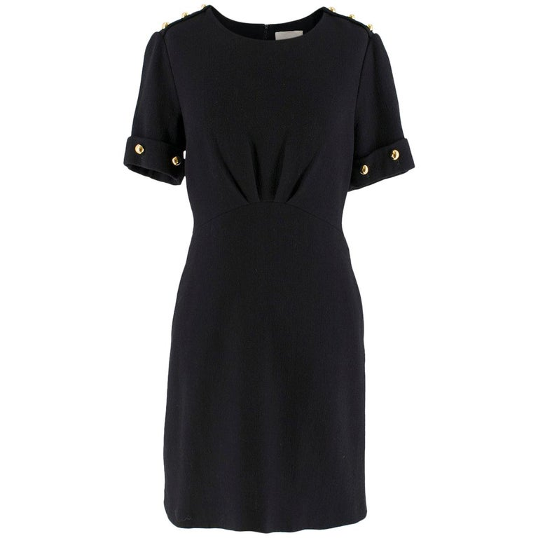 3.1 Phillip Lim Black Studded Sleeve Dress US 8 For Sale