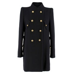 3.1 Phillip Lim Black Wool Double Breasted Coat US 8