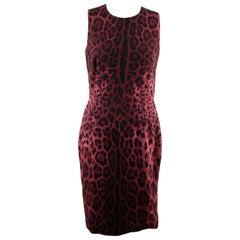 94e3b759c0e Dolce & Gabbana Purple Leopard Silk Sleeveless Dress Size 40