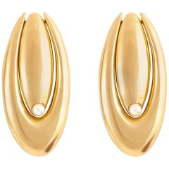 Giulia Barela 24 karat Gold Plated Bronze Double Brancusi Earrings
