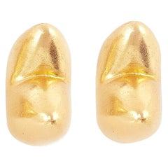 Giulia Barela 24 karat Gold Plated Bronze ARP Earrings