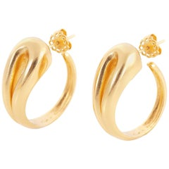 Giulia Barela 24 karat Gold Plated Bronze Hepworth Earrings