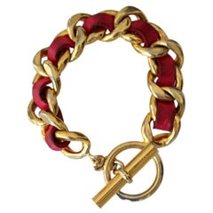 Chanel Red & Gold Vintage Bracelet