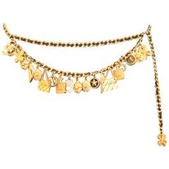 Vintage Chanel Golden Charms Belt