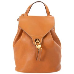 Delvaux Camel Leather PM Backpack