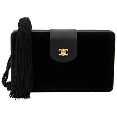 Céline Velvet Box Clutch Bag