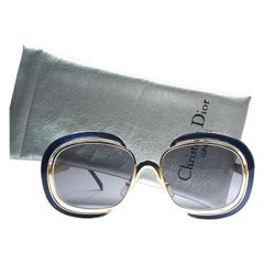 New Vintage Christian Dior Enamel Gold & Blue Sunglasses Austria