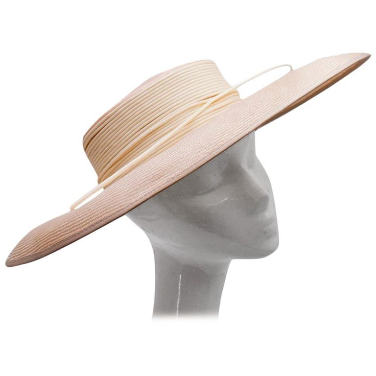 Philip Somerville Nude Straw Hat For Sale