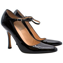 Manolo Blahnik Patent Mary-Jane Pumps US 6