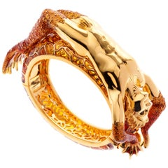 Simon Harrison Enamel Transformation Frog Prince Bangle