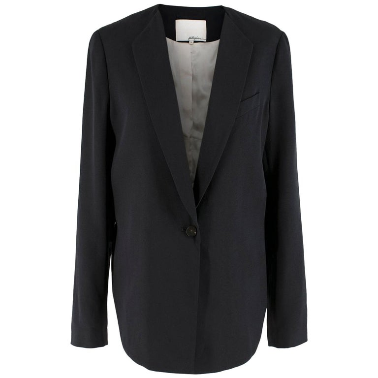Phillip Lim cropped-back silk-faille jacket US 10  For Sale