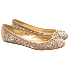 Jimmy Choo Diamante Ballet Flats US 7.5