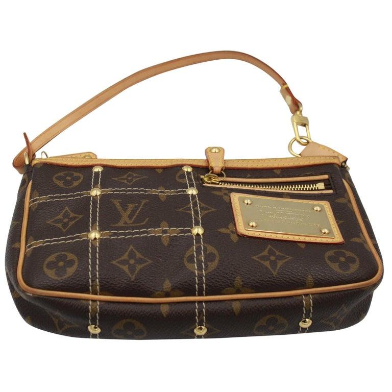 ce8692e88648 Louis Vuitton Limited Edition Riveting Accesoire Bag   Clutch For Sale