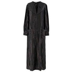 Alessandra Rich metallic-striped silk-blend maxi dress US 8