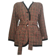Saint Laurent 1980s Wool Belted Jacket Size 6.