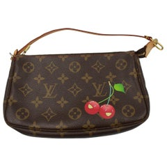 Louis Vuitton Cherry by Takashi Murakami Clutch Bag