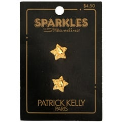Patrick Kelly Paris Gold Star Buttons.