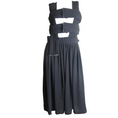 Comme des Garcons black padded cage dress circa 2011