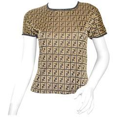 Fendi Zucca Logo Knit Top