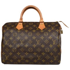 Louis Vuitton Vintage 90's Monogram Canvas Speedy 30 Top Handle Bag
