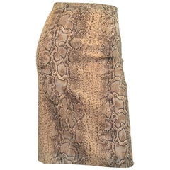 Dolce & Gabbana Snakeskin Print Pencil Skirt