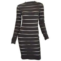 Balmain Sheer Striped Bodycon Dress