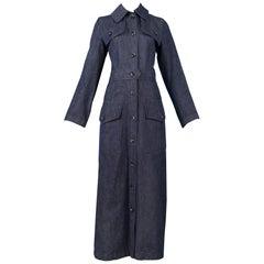 Vintage Yves Saint Laurent 1970's Denim Coat