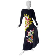 Tom Ford Lichtenstein-esque Ka-Pow Explosive Appliques Dress Gown  New!