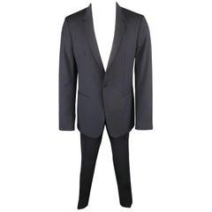 Men's MAISON MARTIN MARGIELA 38 Regular Navy Wool Notch Lapel Single Button Suit