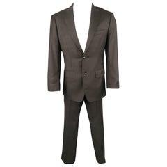 CUSTOM MADE 38 Grey LORO PIANA Wool 32 30 Notch Lapel Suit