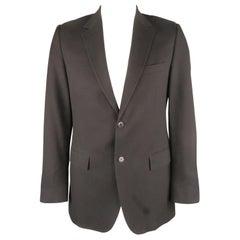 Men's DOLCE & GABBANA 42 Long Navy Textured Cotton Blend Notch Lapel Sport Coat
