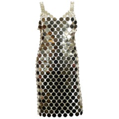 Paco Rabanne Vintage 1996 Gold Rhodoid Disc Do It Yourself Dress