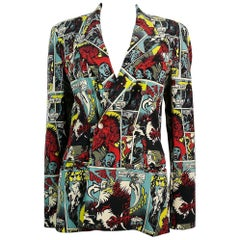 Jean Paul Gaultier Vintage Superhero Comics Print Jacket Size S