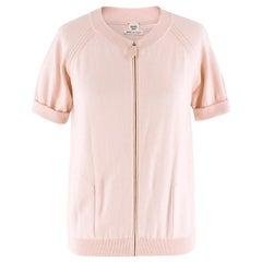 Hermes Pink Knit Zip Top US 6